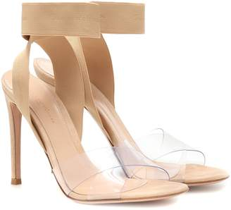 Gianvito Rossi Plexi and suede slingback sandals