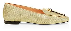 Stuart Weitzman Women's Slipknot Tassel Metallic Loafers