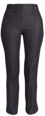 Rokh Button Back Hem Flared Crop Trouser Jeans