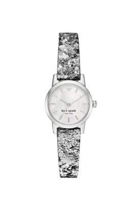 Kate Spade New York Metro Silver Glitter Watch $175 thestylecure.com