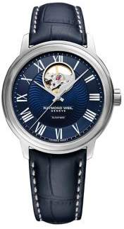Raymond Weil Maestro Automatic Leather-Strap Watch