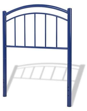 Leggett & Platt Rylan Fashion Kids Metal Headboard Panel with Gently Arced Top Rail and Vertical Spindles, Cadet Blue Finish, Full