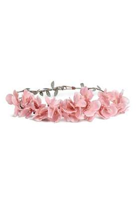 H&M Rigid Hairband with Flowers - Light pink - Women