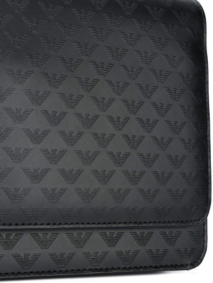 Emporio Armani logo embossed clutch