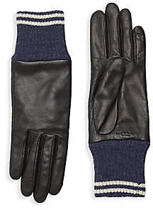 Rag & Bone Women's Leather & Knit Ski Gloves