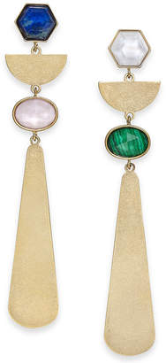 Kate Spade Gold-Tone Multi-Stone Linear Drop Earrings