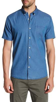 Lindbergh Chambray Short Sleeve Regular Fit Shirt