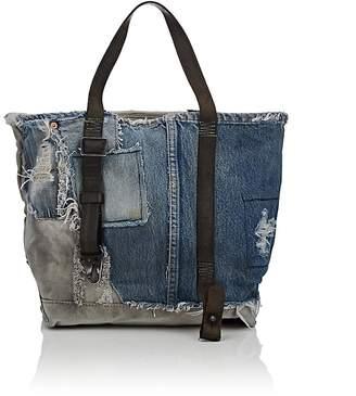 Barneys New York Women's Small Denim & Canvas Tote Bag