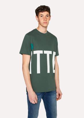 Paul Smith Ps R.E.M. + Green 'Big Kitten' Print T-Shirt