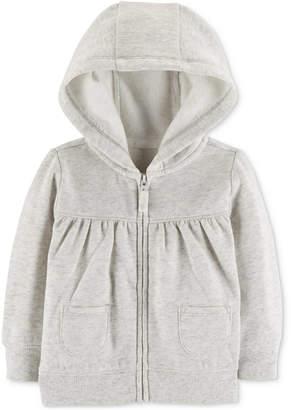 Carter's Baby Girls Full-Zip Hooded Sweatshirt
