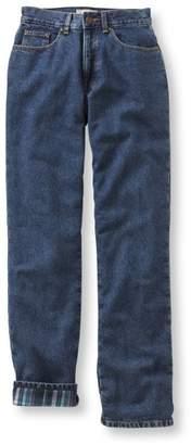 L.L. Bean L.L.Bean Double L Jeans, Straight-Leg Flannel-Lined