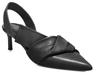 Via Spiga Elisha Kitten Heel Leather Pumps