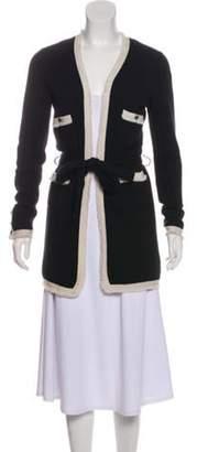 Chanel Cashmere Belted Cardigan Black Cashmere Belted Cardigan