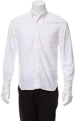 Beams Woven Button-Up Shirt