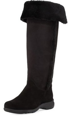 La Canadienne Tacey Suede Over-The-Knee Boot, Black $357 thestylecure.com
