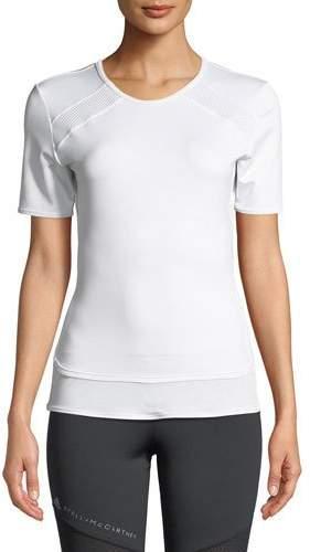 adidas by Stella McCartney Short-Sleeve Performance Essentials Tee w/ Mesh