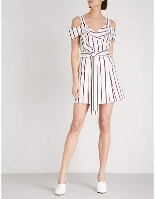 Alexis Edrea cold-shoulder cotton-blend dress