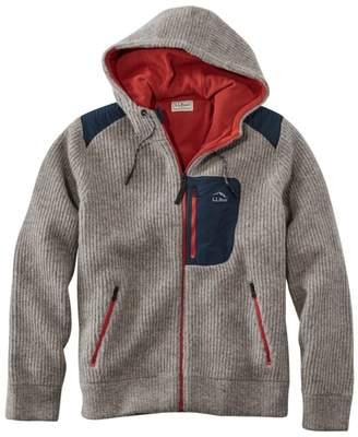 L.L. Bean L.L.Bean Men's Fleece-Lined Hooded Wool Sweater