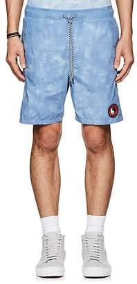 Stampd T & C Men's Logo Acid-Wash Cotton Shorts