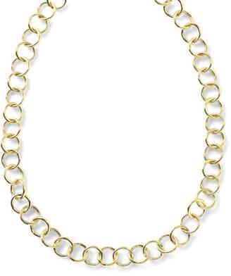 "Ippolita 18K Glamazon Round Link Necklace, 17"""