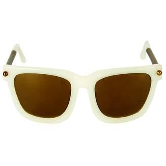 Alexander Wang Ecru Plastic Sunglasses