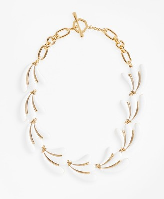 Brooks Brothers Enameled Petal Necklace