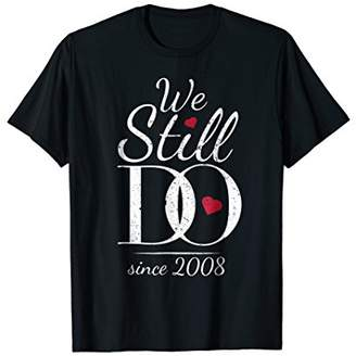 10th Wedding Anniversary T-Shirt Romantic Gift For Couples