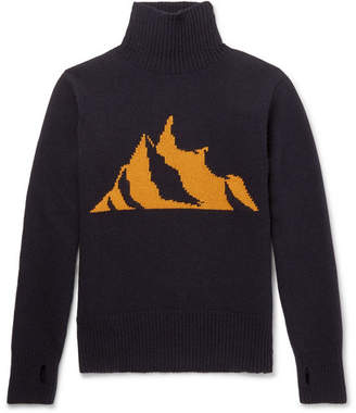 Oliver Spencer Talbot Mountain-Intarsia Wool Rollneck Sweater