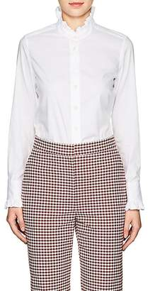 Barneys New York Women's Ruffle Cotton Shirt - White