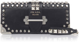 Prada Studded Leather Clutch
