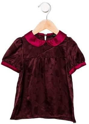 Little Marc Jacobs Girls' Silk Collared Blouse