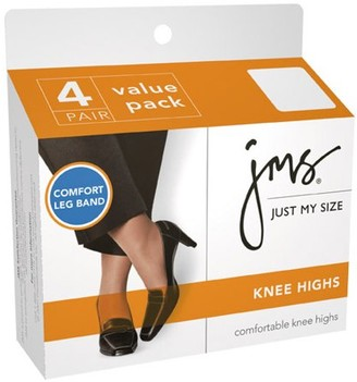 Hanes Just My Size by Women's Comfort Leg Band Knee Highs 4-Pair