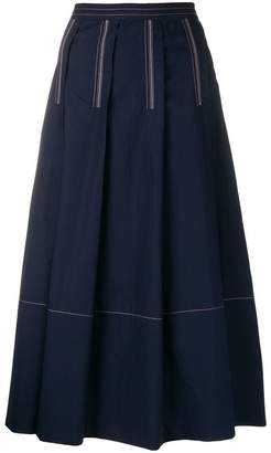 Marni pleated midi skirt
