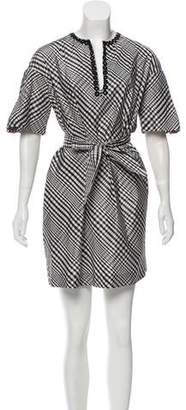Isabella Collection Tonchi Gingham Silk Dress w/ Tags