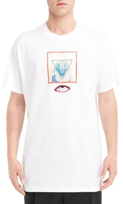 Men's Givenchy Sphinx Graphic & Eye Applique T-Shirt $535 thestylecure.com