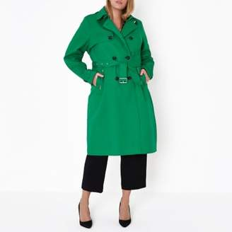 River Island Womens Plus green belted trench coat