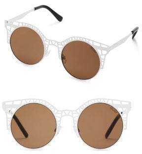 Quay Fleur Metal Cutout Round Sunglasses