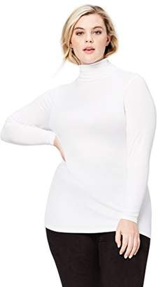 Amazon Brand - Daily Ritual Women's Plus Size Rib Knit Jersey Long-Sleeve Turtle Neck Shirt