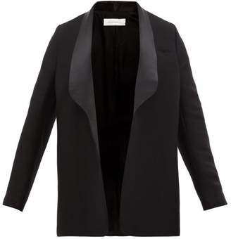 Marina Moscone - Wool Blend Tuxedo Jacket - Womens - Black