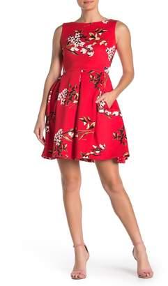 Taylor Floral Fit & Flare Scuba Dress