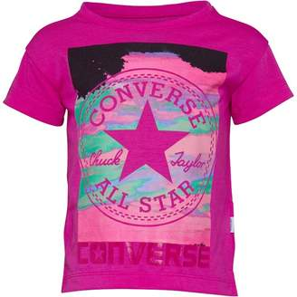Converse Infant Girls In The Clouds T-shirt Magenta Glow
