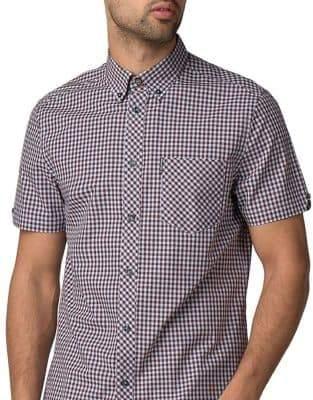 Ben Sherman Short-Sleeve Core Gingham Dress Shirt