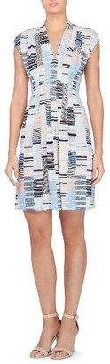 Women's Catherine Catherine Malandrino Tinka Print Jersey Fit & Flare Dress $88 thestylecure.com
