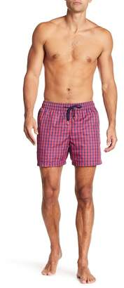 Jared Lang Checkered Swim Trunks