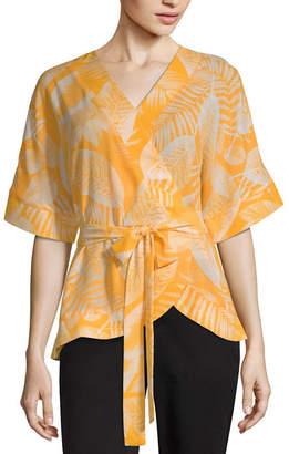 WORTHINGTON Worthington Kimono Wrap Top - Tall