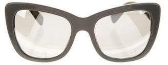 Dolce & Gabbana Oversize Mirrored Sunglasses