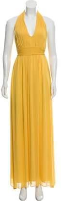 Alice + Olivia Halter Maxi Dress Yellow Halter Maxi Dress
