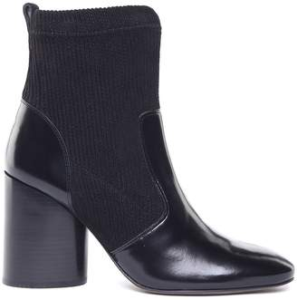 Tory Burch Rowen Corduroy And Brushed-leather Booties