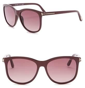 Tom Ford Fiona 56mm Square Sunglasses
