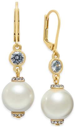 Kate Spade Rose Gold-Tone Pink Imitation Pearl Drop Earrings